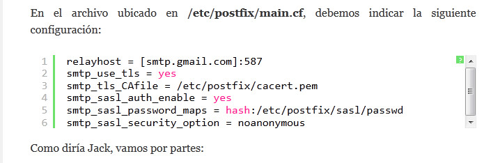 Muestra WP Syntax HighLifhter