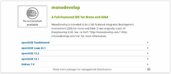 monodevelop-opensuse