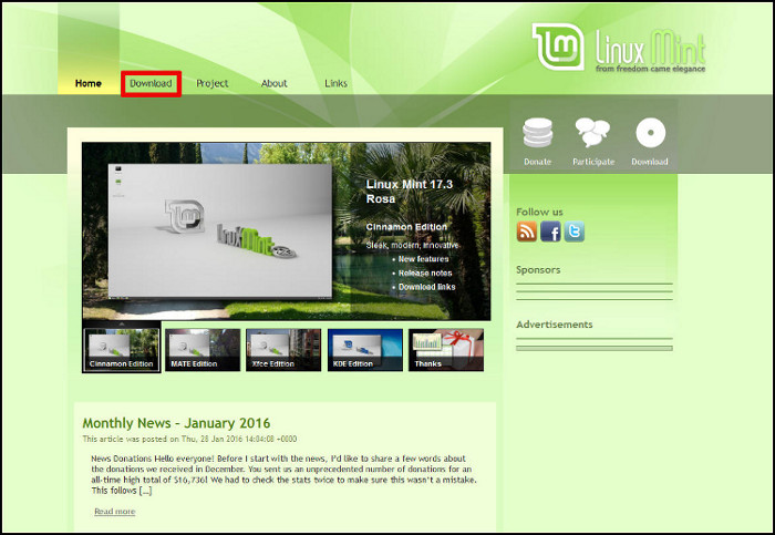 Linux Mint Descarga