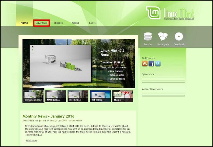 Linux Mint Descarga