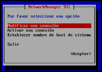 Configuración de red en RHEL y Centos 7, con nmtui