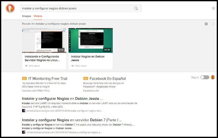 Ejemplo de búsqueda en DuckduckGo
