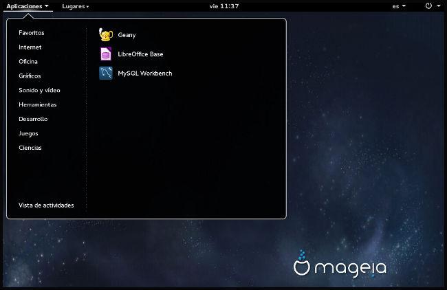 Desplegable aplicaciones Mageia 5