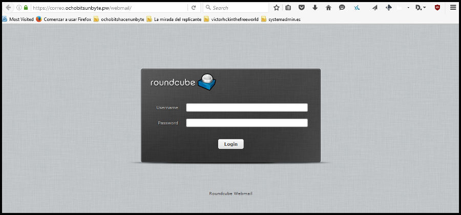 Panel roundcube