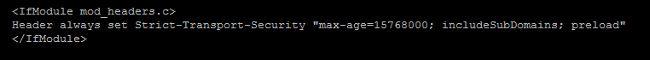 Configuración HSTS en fichero default-ssl.conf