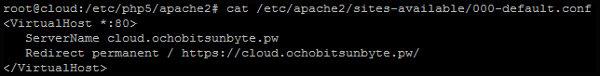 Configurar redirect de HTTP a HTTPS