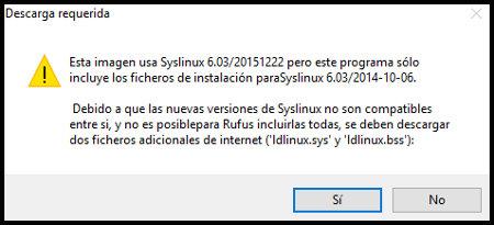 Descarga ficheros adicionales