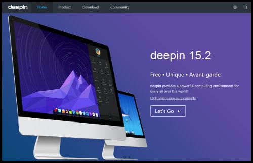 Web del proyecto deepin