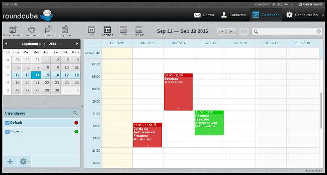 Vista calendario