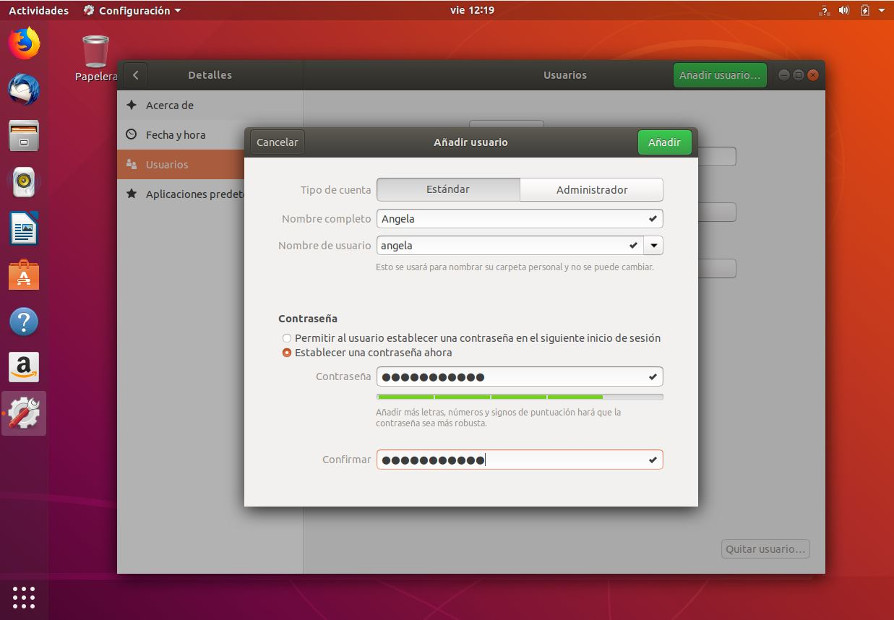 Editar credenciales de usuarios en Ubuntu